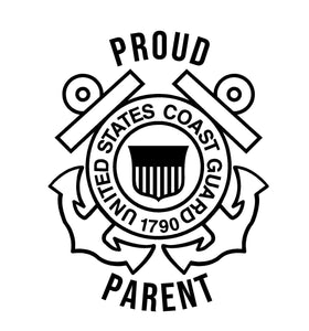 coast guard proud parent car decal
