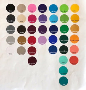 vinyl decal color palette