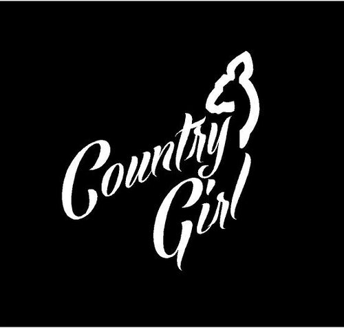 country girl deer decal car truck window sticker