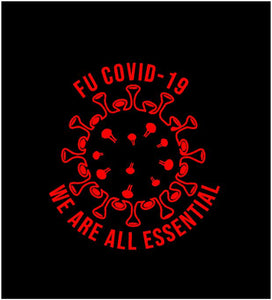 we are all essential car sticker covid decal