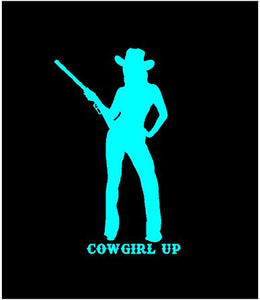 cowgirl up car decal