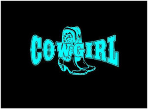 cowgirl car decal