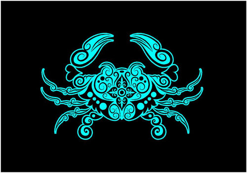 crab decal intricate car truck window crab sticker