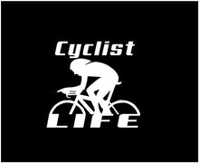Load image into Gallery viewer, cyclist life decal car truck window bike life sticker