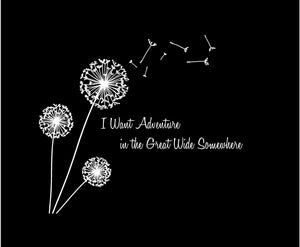 dandelion decal i want adventure in the great wide somewhere sticker