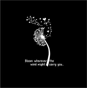 Dandelion Bloom Wherever the Wind Might Carry You custom Vinyl Laptop Decal sticker