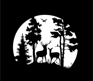 Deer Scene Hunting Wildlife Custom Vinyl Car Truck Window Decal sticker