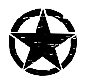 Distressed Star Hood Decal Custom Vinyl Jeep car Truck Sticker