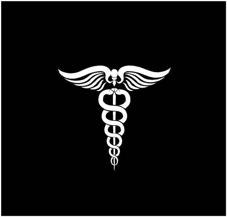 doctor symbol decal car truck window laptop physician sticker