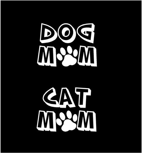 dog mom cat mom decal car truck window animal sticker