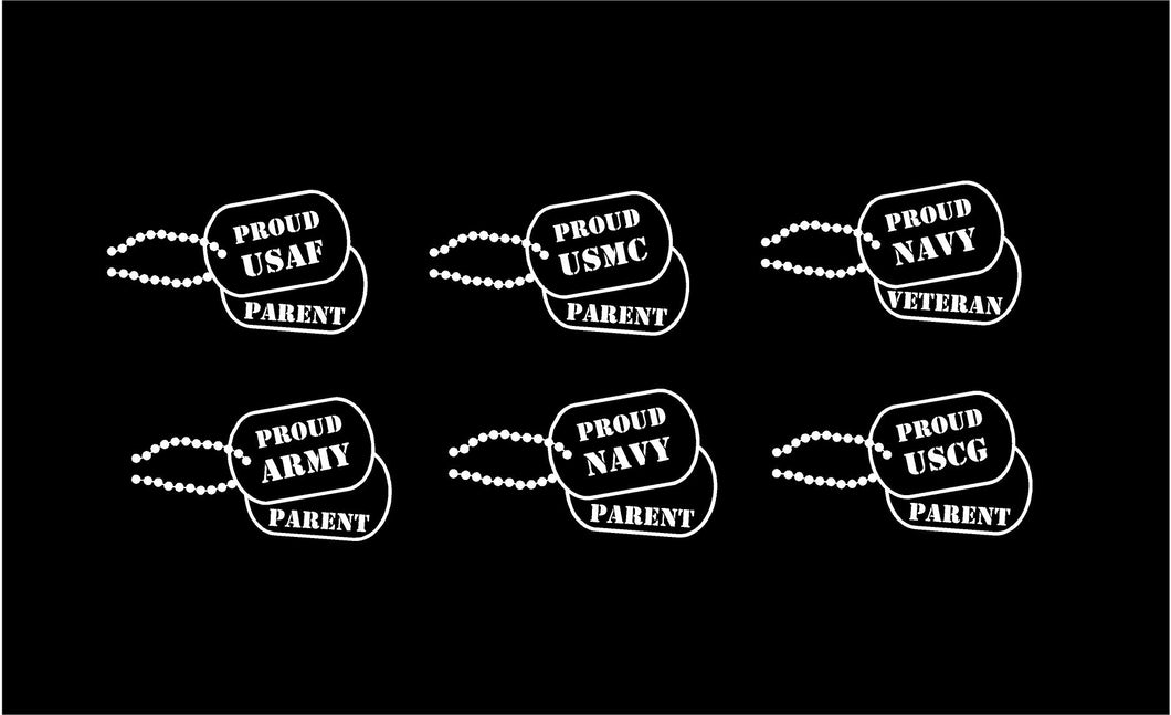 military dog tag decals car truck window stickers