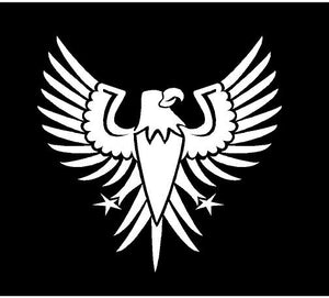 patriotic eagle decal car truck window sticker