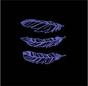 Feathers Set of 3 Custom Vinyl Decals car truck window Boho stickers
