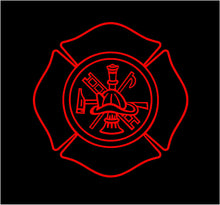 Load image into Gallery viewer, Fireman Shield Decal Custom Vinyl car truck window fire fighter sticker