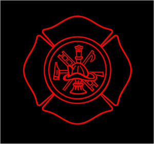 Fireman Shield Decal Custom Vinyl car truck window fire fighter sticker