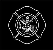 Load image into Gallery viewer, firemans shield decal custom car truck window fire fighters sticker