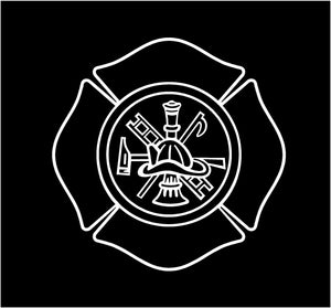 firemans shield decal custom car truck window fire fighters sticker