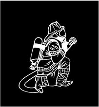 Load image into Gallery viewer, Fireman decal car winddow sticker