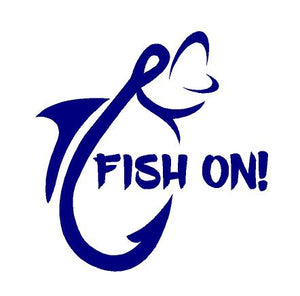 Fish On Decal Custom Vinyl Fishermans car truck window fishing sticker