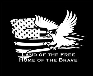 Land of the free home of the brave decal