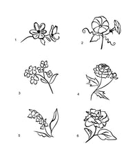 Load image into Gallery viewer, flower lineart decals laptop car truck window floral stickers