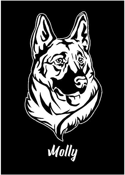 german shepherd decal car truck window customizable dog sticker