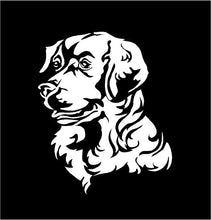 Load image into Gallery viewer, golden retriever decal car truck window customizable dog sticker