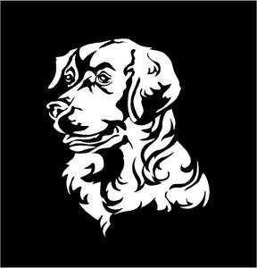 golden retriever decal car truck window customizable dog sticker