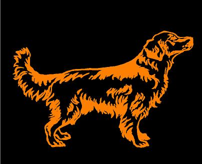 golden retriever decal car truck window dog sticker
