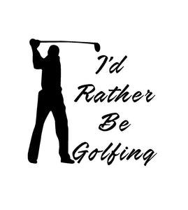 golfing car decal