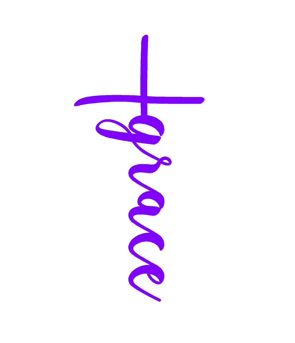 grace cross religous window decal sticker