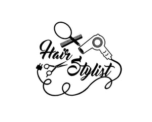 Hair Stylist Salon Decal Custom Vinyl Car Truck Window Mirror Sticker