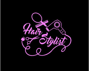 hair stylist decal car truck window salon sticker