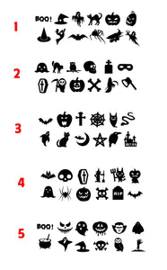 Mini Halloween decals custom vinyl craft project stickers