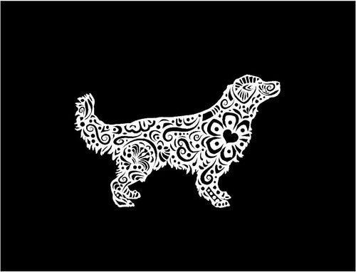 henna golden retriever decal car truck window laptop dog sticker