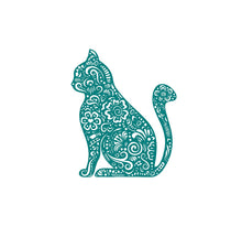 Load image into Gallery viewer, henna cat decal car truck window laptop cat sticker