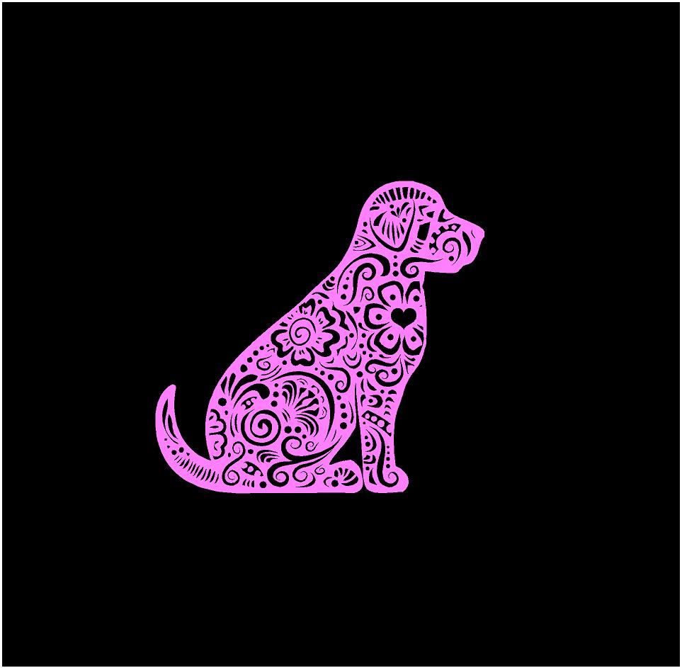 henna labrador retriever decal car truck window laptop dog sticker