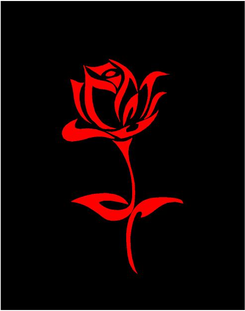 rose decal car truck window flower sticker