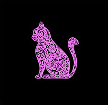 Load image into Gallery viewer, Henna Cat Kitty Fancy Decal Custom Vinyl Laptop Car Window Sticker