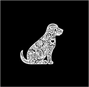 Henna Labrador Retriever Decal Lab Dog Fancy custom Vinyl car truck window laptop sticker