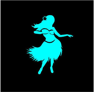 Hawaiian Hula Girl Decal Custom Vinyl car truck window laptop sticker