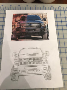 Chevy truck photo to drawing