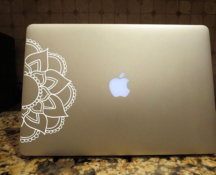 mandala decal laptop car truck window sticker