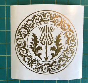 thistle decal
