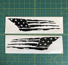 Load image into Gallery viewer, distressed tattered usa flag decals american car truck window stickers