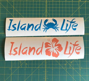 island life decal car truck window tropical sticker