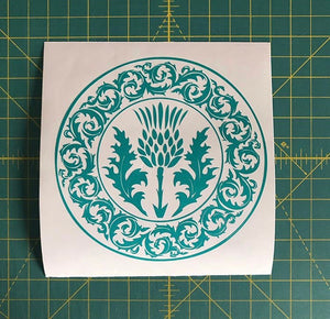 celtic thistle scotland heritage decal car truck window sticker