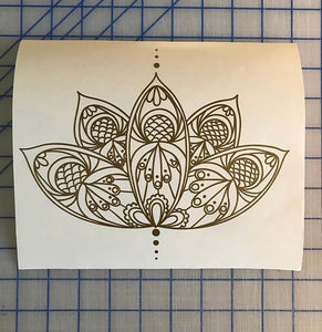 Lotus Flower Decal Intricate custom Vinyl car truck laptop boho sticker