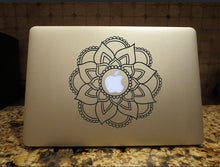 Load image into Gallery viewer, Mandala Decal Custom Boho Bohemian style vinyl Car window laptop sticker