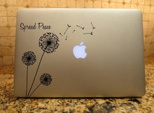 Load image into Gallery viewer, dandelion decal spread peace laptop car truck window sticker